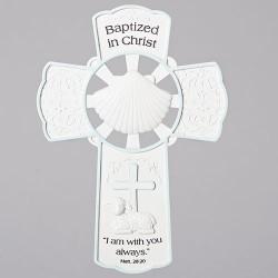 Baptismal Wall Cross-Boy