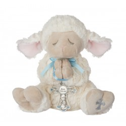 Serenity Lamb w/Crib Cross-Boy