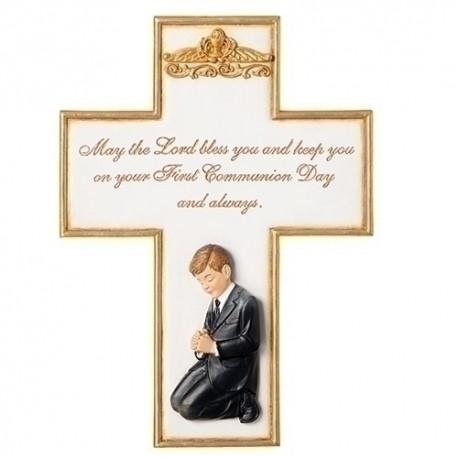 Communion Boy Cross