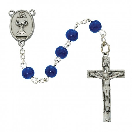Rosary-Blue Communion