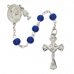Rosary-Blue Glass
