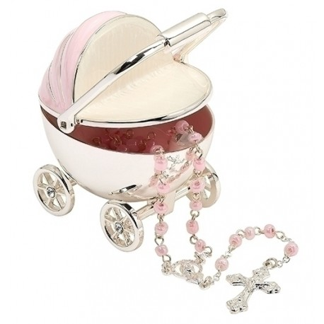 Pink Carriage with Rosary