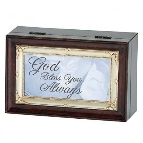 God Bless You Always Baptism Music Box