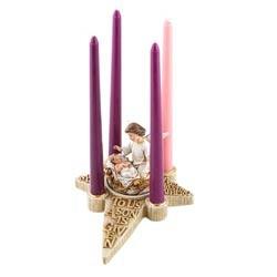 Nativity Angel Advent Candle Holder