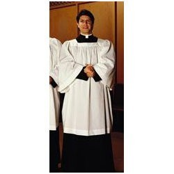Surplice - Clergy Comfort Square Neck Poly Cotton