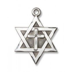 Star of David w/Cross Sterling Silver Pendant
