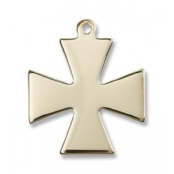 Gold Filled Surfer Cross Pendant