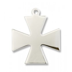 Sterling Silver Surfer Cross Pendant