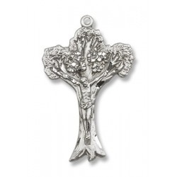 Sterling Silver Tree of Life Crucifix Pendant
