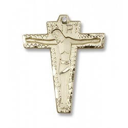 Gold Filled Primative Crucifix Pendant