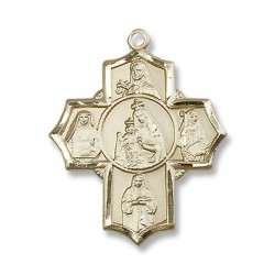 Gold Filled O/L of Mount Carmel Pendant