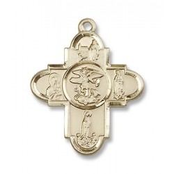 Gold Filled Our Lady 5-Way Pendant
